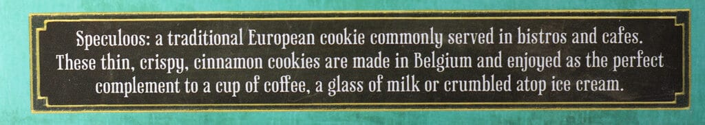 Trader Joe's Speculoos Cookies description