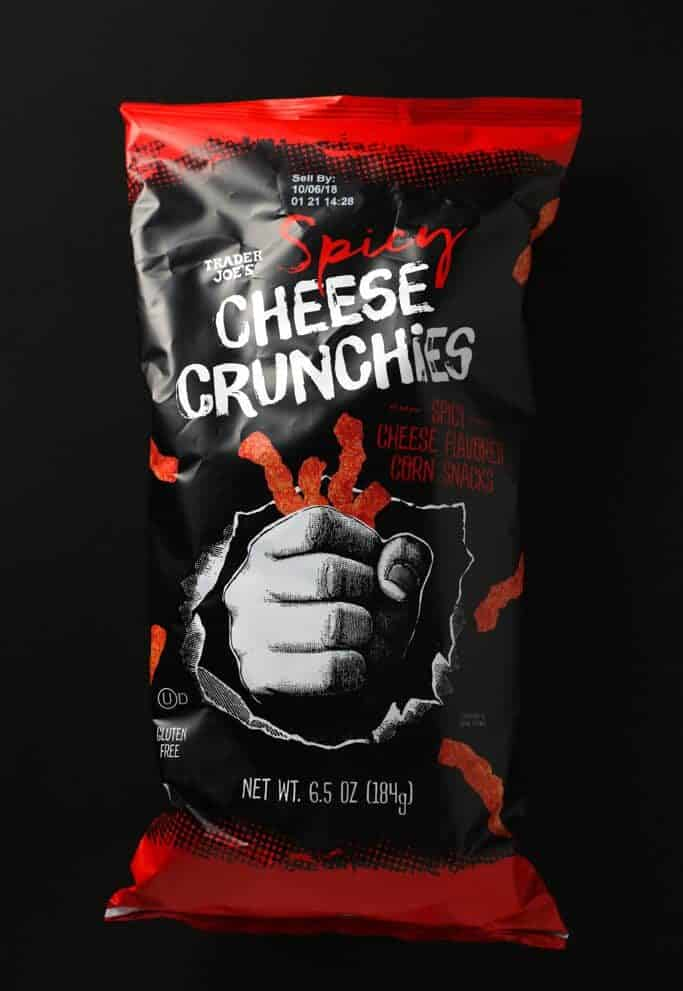 Trader Joe's Spicy Cheese Crunchies bag