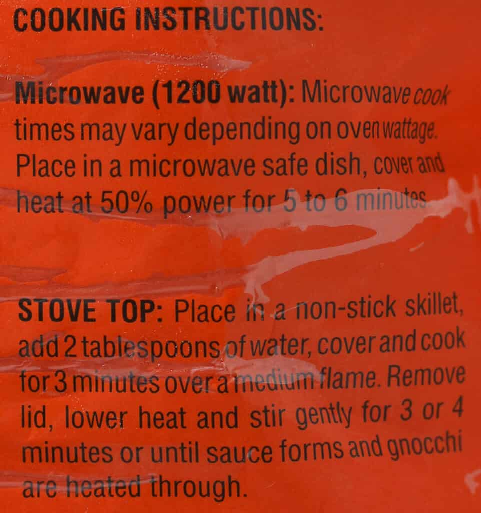 Trader Joe's Sweet Potato Gnocchi directions