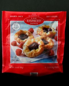 Trader Joe's 8 Mini Raspberry Pastries bag