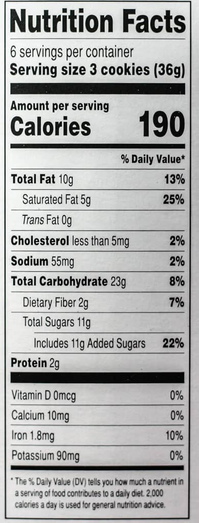 Trader Joe's Bite Sized Crispy Cookies filled with Belgian Chocolate nutritional information