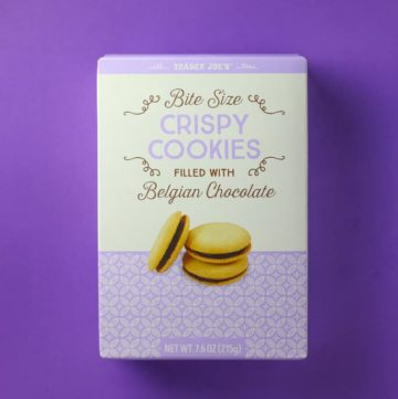 Trader Joe's Bite Sized Crispy Cookies Filled with Belgian Chocolate