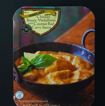 Trader Joe's Chicken Breast Medallions with Coconut Red Curry Sauce package