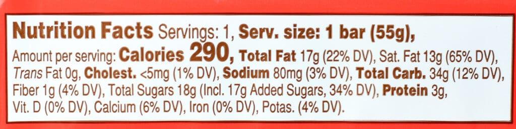 Trader Joe's Chocolate Covered Wafer Cookie nutritional facts
