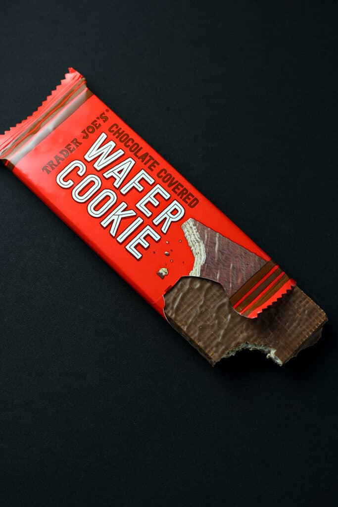 Trader Joe's Chocolate Covered Wafer Cookie out of the package