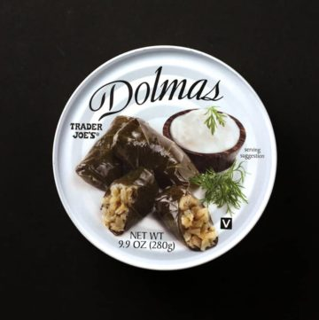 Trader Joe's Dolmas Stuffed Grape Leaves can