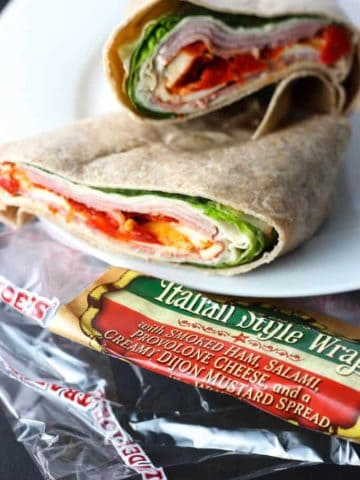 Trader Joe's Italian Style Wrap out of the package