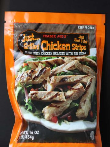 Trader Joe's Just Grilled Chicken Strips bag