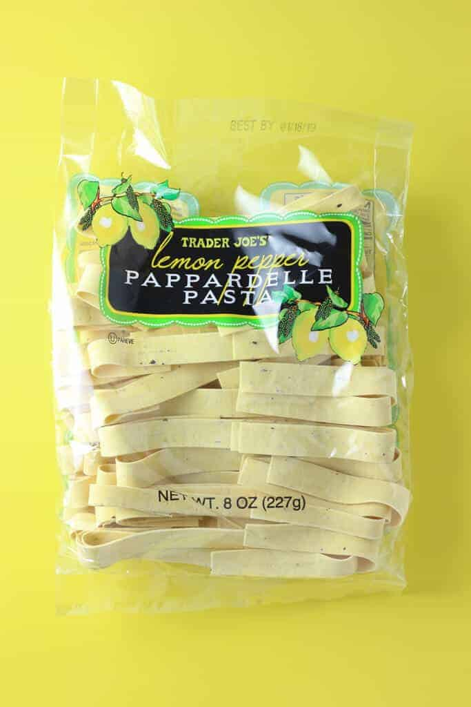 Trader Joe's Lemon Pepper Pappardelle Pasta package