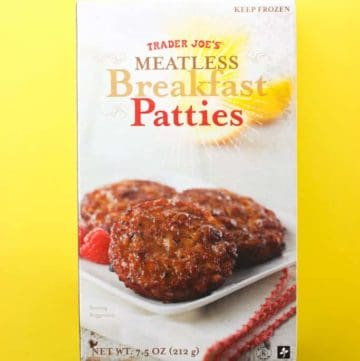 Trader Joe's Meatless Breakfast Patties box