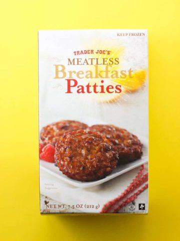 Trader Joe's Meatless Breakfast Patties box