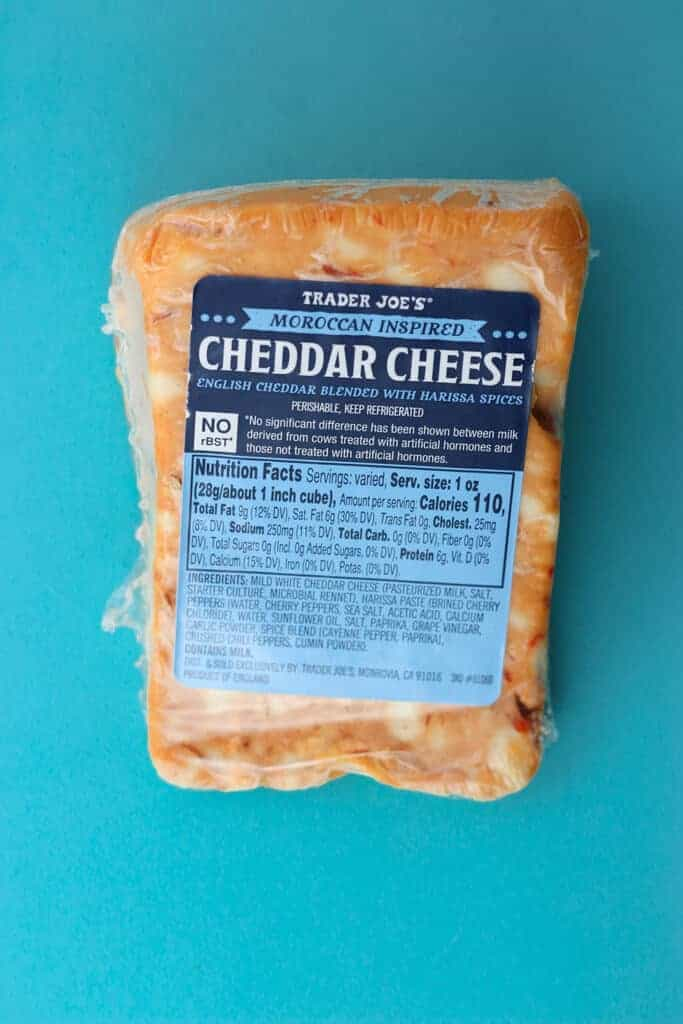 Trader Joe's Moroccan Inspired Cheddar Cheese