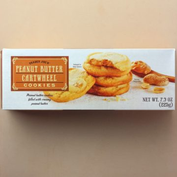 Trader Joe's Peanut Butter Cartwheel Cookies box