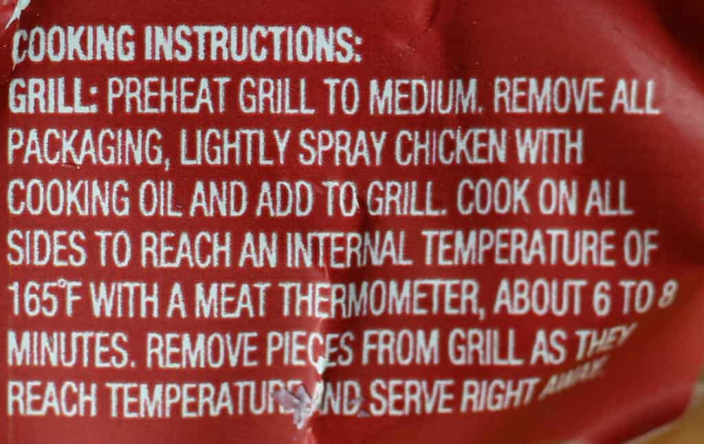 Trader Joe's Pollo Asado Autentico instructions