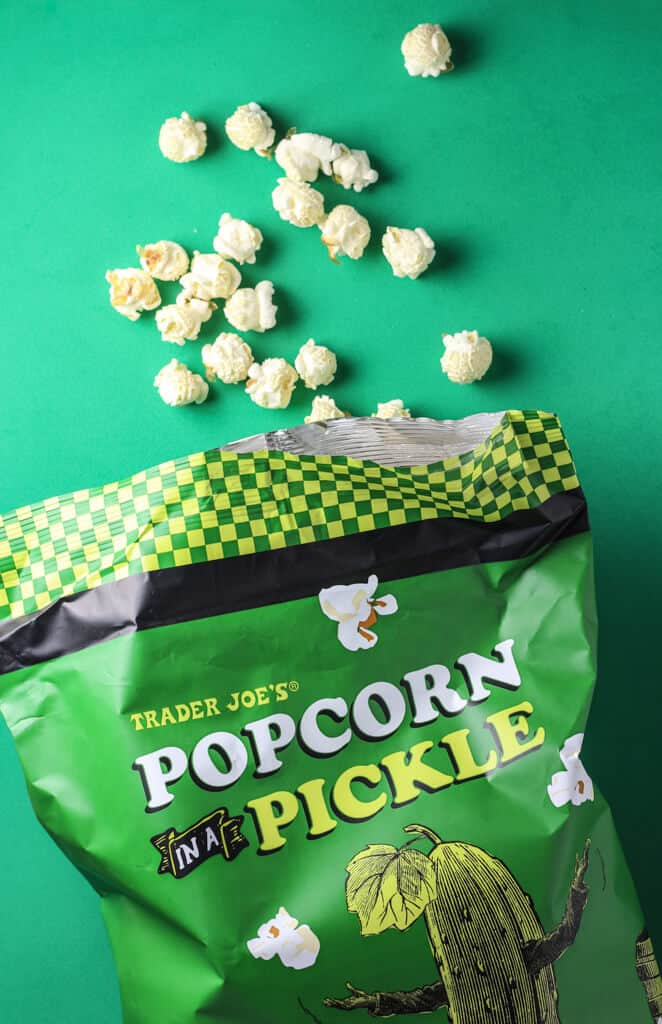 Trader Joe's Popcorn in a Pickle out of the package