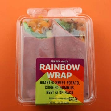 An unopened Trader Joe's Rainbow Wrap package