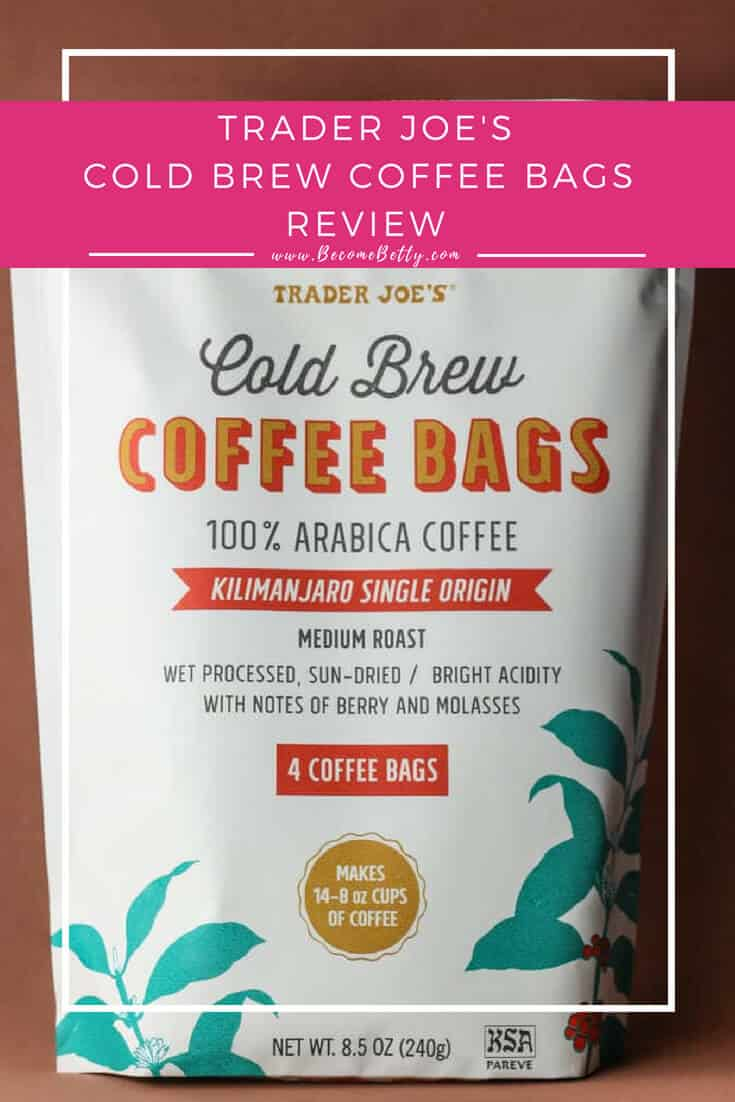 Trader Joe's Cold Brew Coffee Bags review