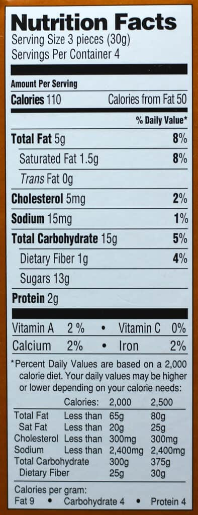 Trader Joe's 6 Chocolate and 6 Vanilla French Macarons nutritional information
