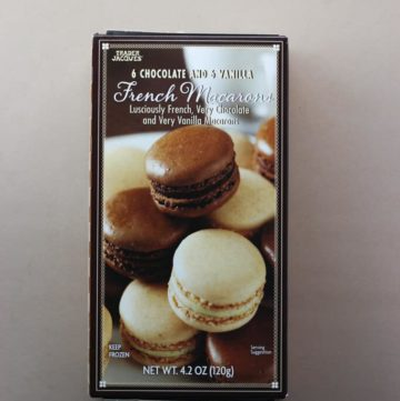 Trader Joe's 6 Chocolate and 6 Vanilla French Macarons box