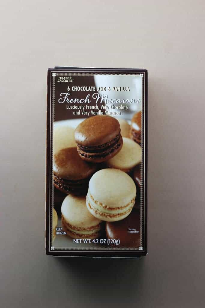 Trader Joe's 6 Chocolate and 6 Vanilla French Macarons box
