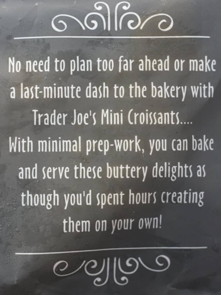 Trader Joe's 8 Mini Croissants description