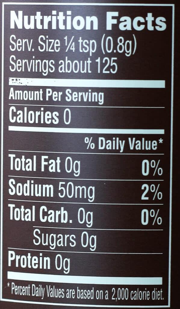 Trader Joe's BBQ Rub and Seasoning with Coffee and Garlic nutritional information