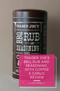 Trader Joe's BBQ Rub and Seasoning with Coffee and Garlic