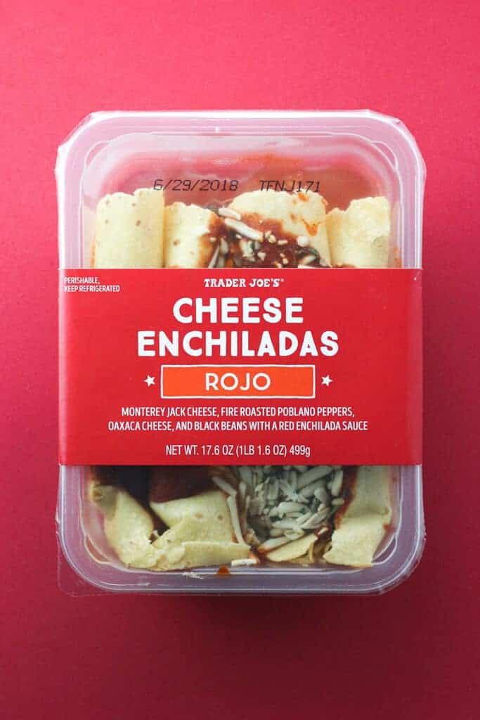Trader Joe's Cheese Enchiladas Rojo package