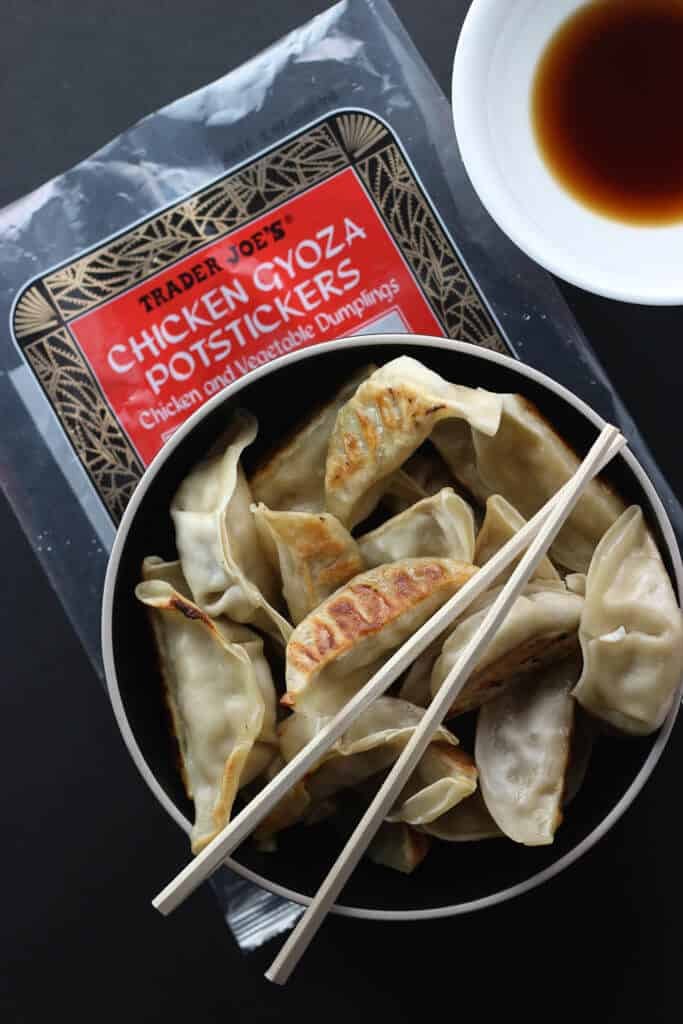 Trader Joe's Chicken Gyoza Potstickers fully cooked