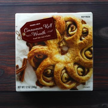 Trader Joe's Cinnamon Roll Wreath box
