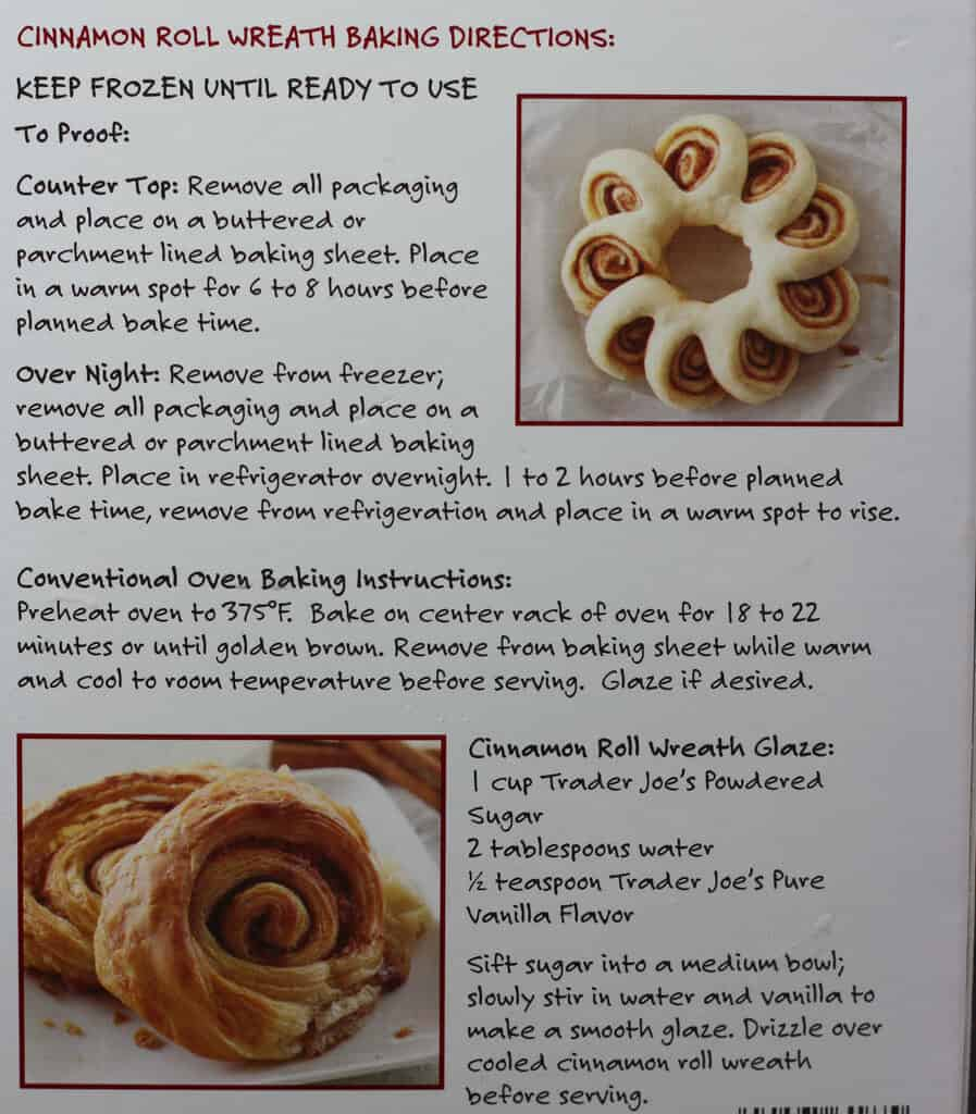 Trader Joe's Cinnamon Roll Wreath how to prepare