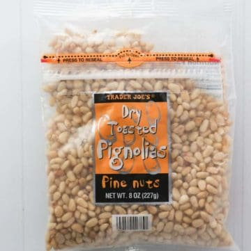 Trader Joe's Dry Toasted Pignolias Pine Nuts bag