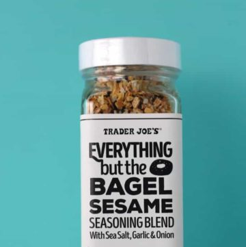 An unopened jar of Trader Joe's Everything But the Bagel Sesame Seasoning Blend