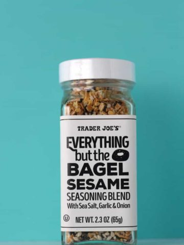 An unopened jar of Trader Joe's Everything But the Bagel Sesame Seasoning Blend