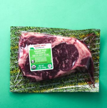 Trader Joe's Grass Fed Organic Rib Eye Beef Steak