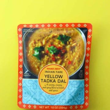 Trader Joe's Indian Fare Yellow Tadka Dal package