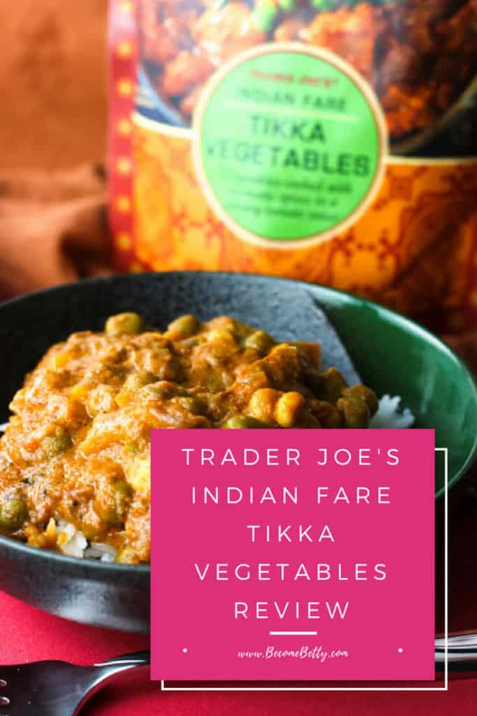 Trader Joe's Indian Fare Tikka Vegetables review #traderjoes