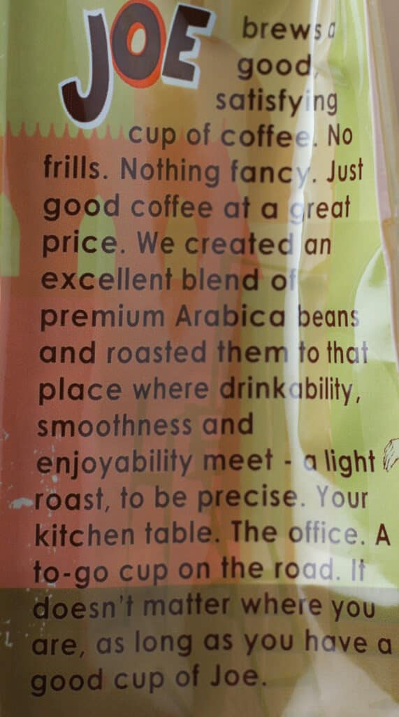 Trader Joe's Joe Coffee description