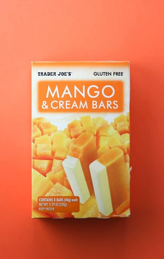 Trader Joe's Mango and Cream Bars box