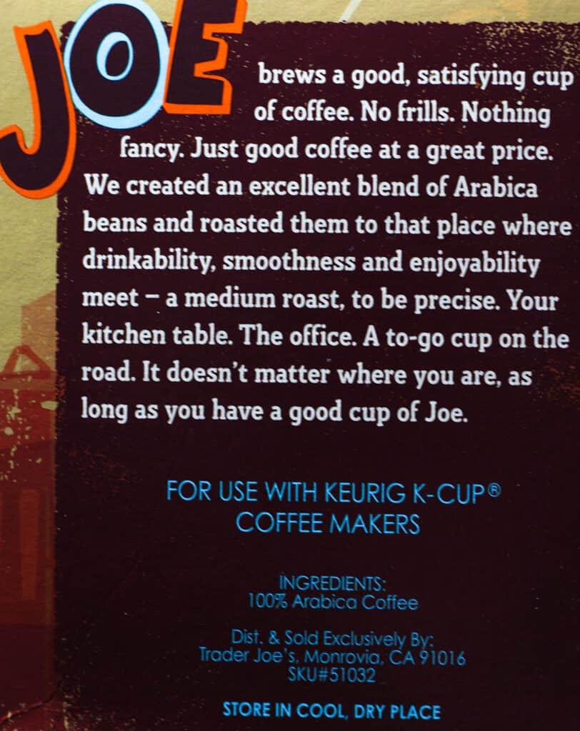 Trader Joe's Medium Roast Coffee Cups description