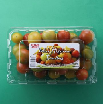 Trader Joe's Mini Heirloom Tomatoes