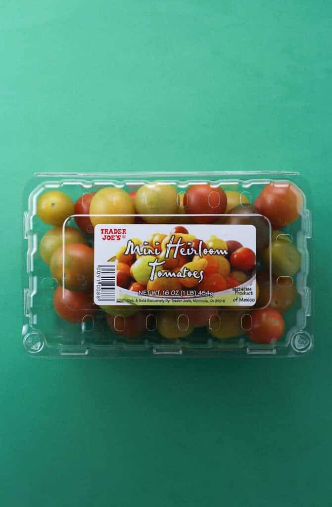 Trader Joe's Mini Heirloom Tomatoes package