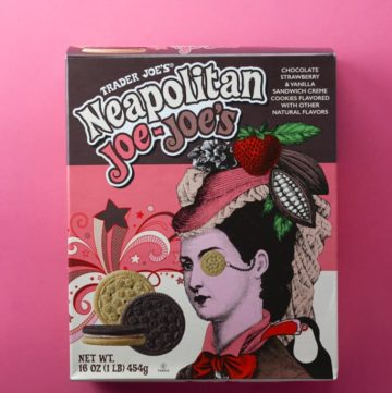 An unopened box of Trader Joe's Neapolitan Joe Joe's box