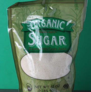 Trader Joe's Organic Sugar package