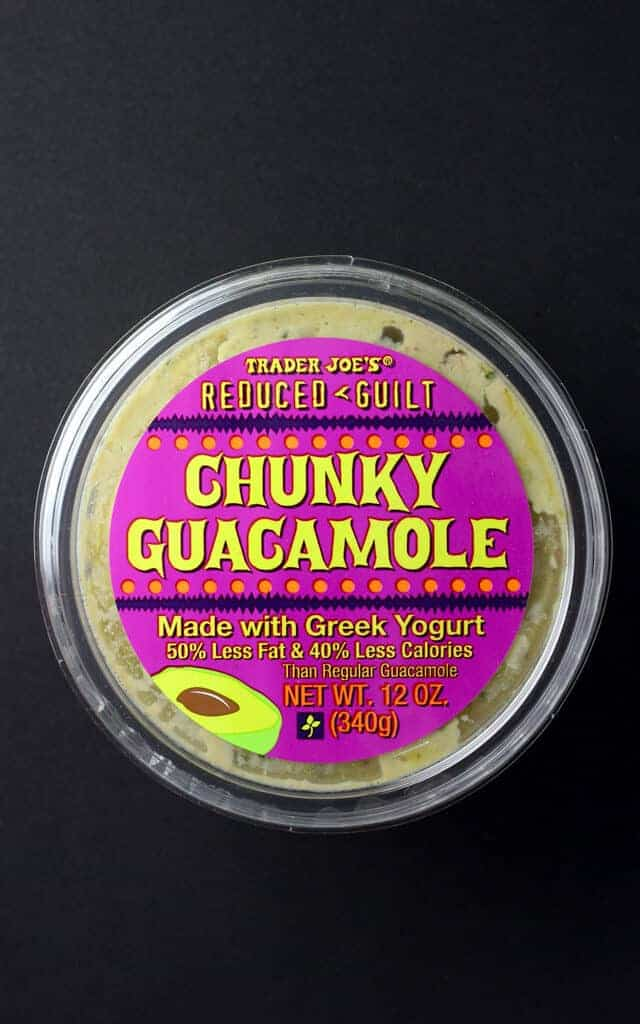 Trader Joe's Reduced Guilt Chunky Guacamole package