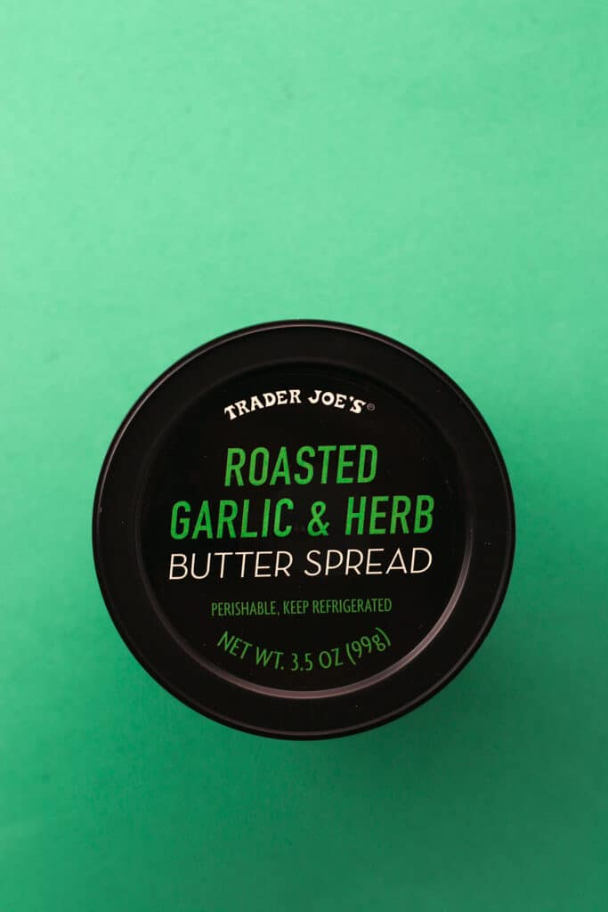 Trader Joe's Roasted Garlic and Herb Butter Spread package