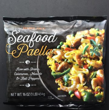 Trader Joe's Seafood Paella bag
