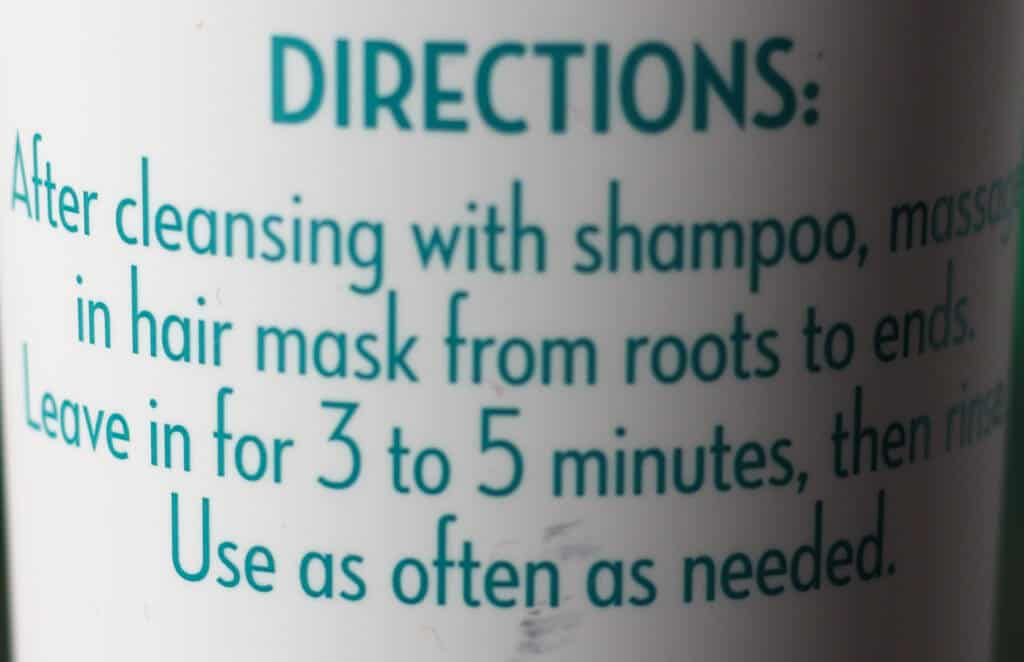 Trader Joe's Shea Butter and Coconut Oil Hair Mask directions