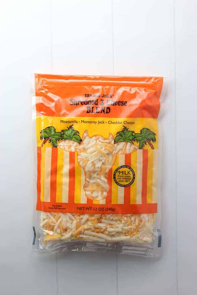 Trader Joe's Shredded 3 Cheese Blend bag