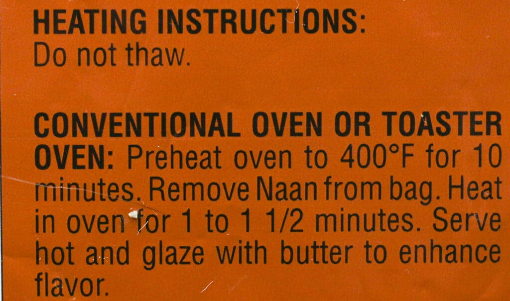 Trader Joe's Tandoori Naan how to prepare